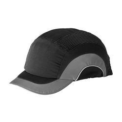 "JSP HardCap A1+ Low-Profile, Black/ Gray, Short 2"" Brim, HDPE Liner"