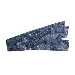 Cooling Bandana, Absorbent Cooling Crystals, Poly/Cotton, Cowboy Blue, Large
