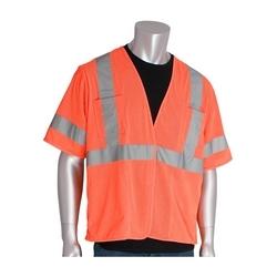 Class 3 Mesh Vest, 4 pockets, Hook & Loop Closure, 2in. Tape, Orange, 3X