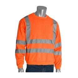 Class 3 Crewneck Sweatshirt, 8oz. Fleece, 2in. Tape, Orange, 2X