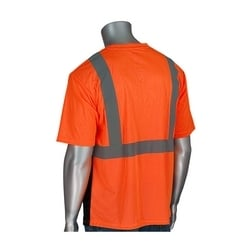 Class 2 Short Sleeve T-shirt, Black Bottom, UV Block, Yellow & Orange, XL