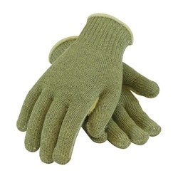 Kevlar ACP 7 Gauge Seamless Knit H. Weight, Polyester Lined, Green, XL