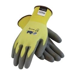 G-Tek Kevlar/Spandex Seamless Knit w/ Gray. PU Coating, 13G, EN2, 2XL