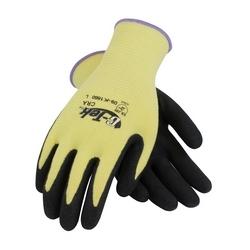 G-Tek KEV, Yellow 13G Kevlar Shell, MicroSurface Nitrile Grip, EN3/A2, Small