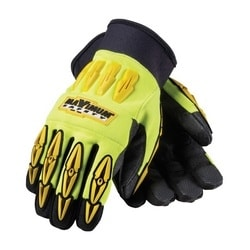 MAD MAX, HV Yellow, Black Reinforced Synthetic Leather Palm, XL