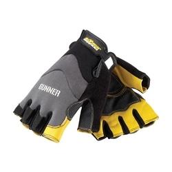 GUNNER, Goatskin Reinforced Palm, Spandex Back, Half-Finger, 2XL