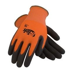 G-Tek CR, Hi-Vis Orange PolyKor Shell , DD Black Nitrile, EN5, Large