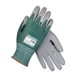 MaxiCut 3, Gray. MicroFoam Nitrile Coated Palm, Enginieerd Yarn Shell, EN3, 2XL