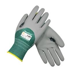 MaxiCut 3, 3/4 Dip Gray. MicroFoam Nitrile, Gray. Eng. Yarn Shell, EN3, 2XL