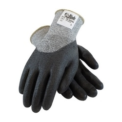 G-Tek CR, Gray. Spun Dyneema/Nylon Shell, Black PU Coat, EN3, Small
