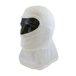 100% Nomex Hood w/ Bib, Full Face Coverage, Double Layer, White, OSFM