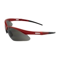 Anser, Gray Lens, AS, Red Frm, Rubber Tmpl Tips, Incl Neck Cord