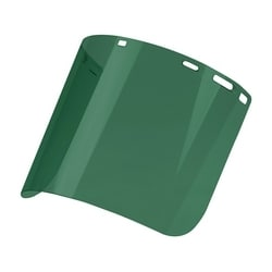 """Dark Green Molded Polycarbonate Visor, Cylindrical, Universal Fit, .078""""x8""""x15"""""""