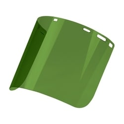 """Green IR 3.0 Shade Molded Polycarbonate Visor, Cylindrical, Univ Fit, .078""""x8""""x15"""""""