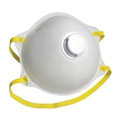 N95 Particulate Respirator, Cone w/ Exhale Valve, Welded Strap, 10/Box