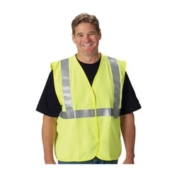 AR/FR Class 2 Solid Vest, 5.5 Cal, FR Tape, Hook & Loop Closure, Yellow, 3X