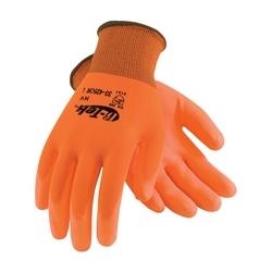G-Tek, 13G HV Orange Poly Shell, HV Yellow PU Coating, 2XL