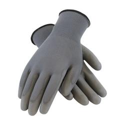 PIP, 13G Gray. Polyester Shell, Gray. PU Coating, 2XL