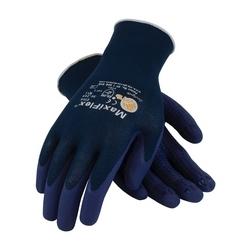 MaxiFlex Elite, 18G Blue Nylon Shell, MicroFoam Nitrile Dot, XL