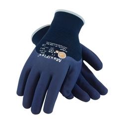 MaxiFlex Elite, 18G Blue Nylon Shell, 3/4 MicroFoam Nitrile Coating, Medium