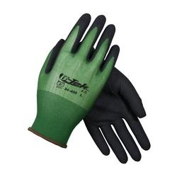 G-Tek GP, 18G Green Nylon Shell, Black MicroSurface Nitrile Grip, Medium
