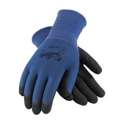 G-Tek GP, 13G Blue Nylon Shell, Black Nitrile MicroSurface Grip, 2XL