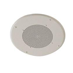 """Speaker,8"""", Ceiling, 25-70 Volt Transformer & Metal Baffle"""