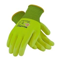 MaxiFlex Ultimate, 15G HV Yellow Nylon Shell, HV Yellow Nitrile MicroFoam, XL
