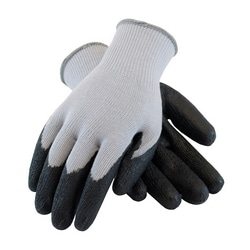 G-Tek 10G Gray. Cotton/Polyester Shell, Black Nitrile Coating, Small