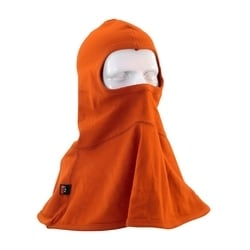 AR/FR Balaclava Single Layer, 11 Cal, 6.5 oz Interlock Cotton, Orange