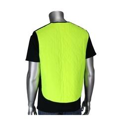 EZ-Cool Evap. Cooling Vest, Zipper, Closure, Yellow, XL