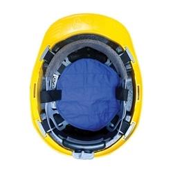 EZ-Cool Evap. Hard Hat Pad, Hook & Loop Attachment, Blue