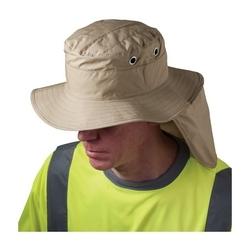 EZ-Cool Evap. Cooling Ranger Hat Neck Shade, Khaki, Large