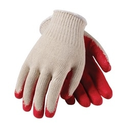 Cotton/Polyester, Red Latex Coated Palm, Econ Grade, Large