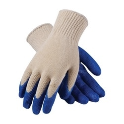 Cotton/Polyester, Blue Latex Coated Palm, Reg Grade, XL