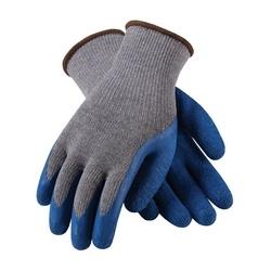 G-Tek 10G Gray. Cotton/Polyester, Blue Latex Crinkle Coat, XS
