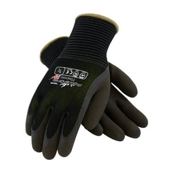 10G Lime Acrylic/Black 13G Nylon Shell, Black Latex MFinish Grip, 2XL