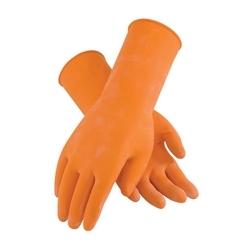 Assurance Unsupport Latex, Orange, 18 Mil, 12 Inch, Flocked, Honeycomb, XL