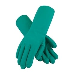 Assurance Unsupport Nitrile, Green, 11 Mil, 13 Inch, Unlined, Diamond, Large