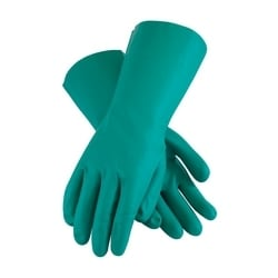 Assurance Unsupport Nitrile, Green, 15 Mil, 13 Inch, Flocked, Diamond, 2XL