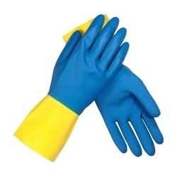 Assurance Unsupport Neo/Latex, Blue/Yellow, 28 Mil, 12 In, Flock, HComb, Medium