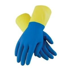 Assurance Unsupport Neo/Latex, Blue/Yellow, 19 Mil, Flocked, Diamond, XL