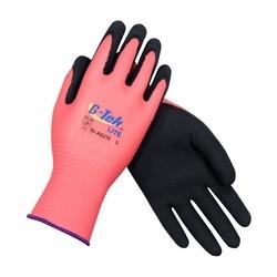 G-Tek, 15G Rose Pink Shell, Black MicroSurface Latex Coating, Small