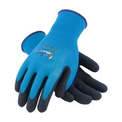 G-Tek, 15G Aqua Blue Shell, Black MicroSurface Latex Coating, Large