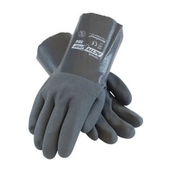 Supported, 15G Poly/Cotton Shell, Gray Nitrile w/MicroFinish, 12 Inch, XL