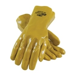 ProCoat, Supported PVC, Jersey Lined, Yellow, Smooth Finish, 12 Inch