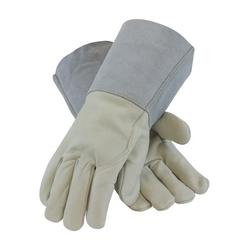 Mig Tig, Top Grain Cowhide, Leather Gauntlet Cuff, Sewn w/Kevlar, Medium