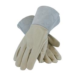 Mig Tig, Top Grain Pigskin, Split Leather Gauntlet Cuff, Sewn w/Kevlar, Medium