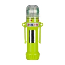 "Amber, Flashing or Steady-On 1-Color, 8 LED, Four ""AA"" Batteries"