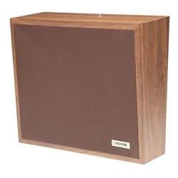 Haut-parleur, mur, avec Grille en tissu brun foncé